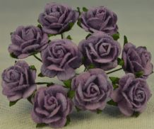 1.5cm LAVENDER Mulberry Paper Roses
